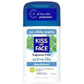 Kiss My Face Natural Active Life Aluminum Free Deodorant Stick, Fragrance Free 2.48 oz