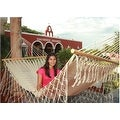 Sunnydaze American Style Mayan Hammock with Spreader Bar, Natural - Thumbnail 3