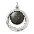 Sterling Silver Rhodium-plated & Ruthenium Radiant Essence Pendant. Pendant ONLY, Chain sold separately. - Thumbnail 0