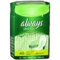 Always Ultra Thin Pads without Wings, Unscented, Long Super 40 ea - Thumbnail 0