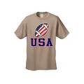 Men's T-Shirt USA Flag Football Game Pride American Sports Bar Beer Patriotic - Thumbnail 2