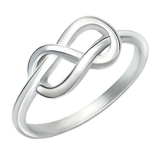 GIG Jewels Sterling Silver Infinity Symbol Ring