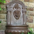 Sunnydaze Imperial Lion Outdoor Wall Fountain - Thumbnail 5