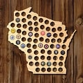 Wisconsin Beer Cap Map - Thumbnail 0