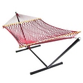 Sunnydaze Caribbean XL Rope Hammock with Spreader Bars - Multiple Colors Availab - Thumbnail 38