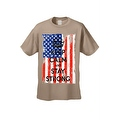 Men's T-Shirt USA Flag Keep Calm & Stay Strong Stars & Stripes America Patriotic - Thumbnail 5