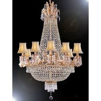 Empire Crystal Chandelier Lighting With White Shades