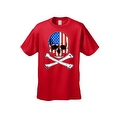 Men's T-Shirt USA Flag Skull Crossed Bones American Pride Stars/Stripes Patriotic - Thumbnail 8