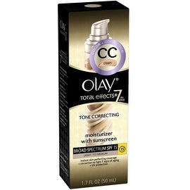 OLAY Total Effects 7-in-1 Tone Correcting Moisturizer, SPF 15, Light to Medium 1.7 oz