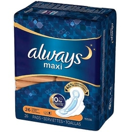 Always Maxi Overnight Pads with Flexi-Wings 26 ea