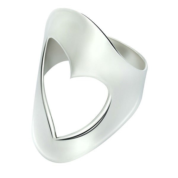 GIG Jewels Fine Sterling Silver Heart Design Love Ring
