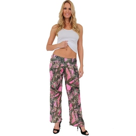 Women's Juniors Authentic True Timber Pants Camouflage Hunt Camo PINK