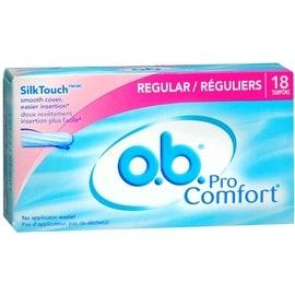 o.b. Pro Comfort Tampons Regular 18 Each