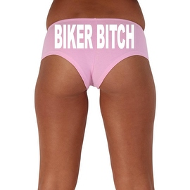 Women's Sexy Hot Booty Boy Shorts Biker Bitch Block White Bold Style Type Lingerie