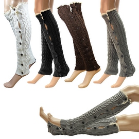 Women's Fashion Crochet Lace Knit Boot Cuffs Toppers Leg Warmers Leggings Socks