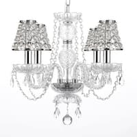 Shop Flush Mount 4 Light Chrome & White Shade Empress