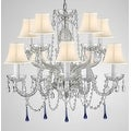 Venetian Style All Crystal Chandelier Lighting With Blue Crystals - Thumbnail 0