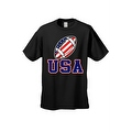 Men's T-Shirt USA Flag Football Game Pride American Sports Bar Beer Patriotic - Thumbnail 7