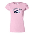 JUNIORS T-SHIRT World's Best Mom MOTHER TEE MOMMY SUPER MAMMA SPORTS TOP S-2XL - Thumbnail 0