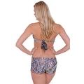Women's 2-Piece Camo Bikini Green True Timber Halter Top & Hot Shorts Beach Swimwear Swimsuit - Thumbnail 3