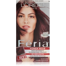 L'Oreal Paris Feria Power Reds High-Intensity Shimmering Colour, Blowout Burgundy [R37] (Warmer) 1 ea