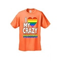 Men's T-Shirt I Love My Crazy Gay Husband LGBT HOMOSEXUAL Pride Unisex - Thumbnail 8