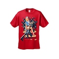 Men's T-Shirt USA Flag Pin-Up Girl on Rifle 2nd Amendment M4 Bombshell Pride - Thumbnail 4