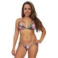 Women's Pink Camo True Timber 2-Piece Ruffle Bikini Swimwear Swimsuit Beach Camouflage - Thumbnail 0