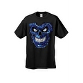 Men's T-Shirt Metallic Robotic Blue Skull Skeleton Wired Terminator Graphic Tee - Thumbnail 4