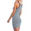 Women's Sundress Sleeveless Striped Camisole Tank Dress Beach Dress - Thumbnail 1