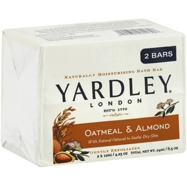 Yardley London Moisturizing Bars Oatmeal & Almond - 2 pack, 4.25 oz bars