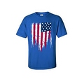 MEN'S PATRIOTIC T-SHIRT Painted USA AMERICAN FLAG RED WHITE BLUE PRIDE S-5XL TEE - Thumbnail 3