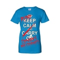 Women's Juniors T-Shirt Keep Calm &… Run! Zombies are Coming!!! Undead Tee - Thumbnail 3