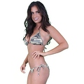 Women's Camo 2-Piece Brazilian Cut Bikini Set Swimwear Beach Swimsuit - Thumbnail 2