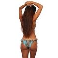 Women's Blue Camo True Timber 2-Piece Ruffle Bikini Swimwear Swimsuit Beach Camouflage - Thumbnail 1