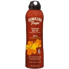 Hawaiian Tropic Golden Tanning Dry Oil SPF 6 6 oz
