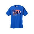 Men's USA Flag T Shirt Distressed Red, White & Blue Pride Old Glory Stars/ Stripes - Thumbnail 2