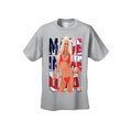 Men's T-Shirt Made In The USA Flag Sexy Blond Girl Stars & Stripes Hot Chick Tee - Thumbnail 4
