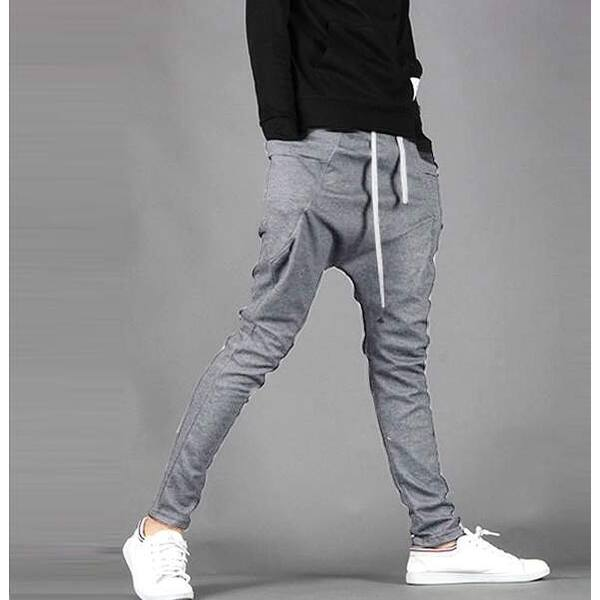 Sports Mens Casual Pants Harem Trousers Sweatpants Slacks Casual Jogger Pants DS