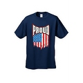 MEN'S T-SHIRT Proud American Distress Flag PATRIOTIC USA STARS & STRIPS TEE S-5X - Thumbnail 2