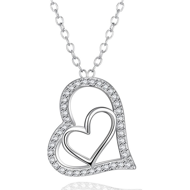 White Gold Plated Love Within Bridal Necklace
