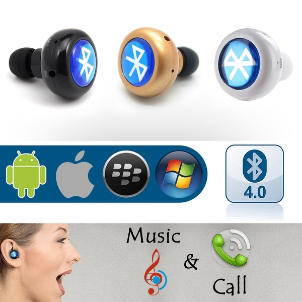 New Mini Wireless Bluetooth Headset 4.0 STEREO Sport Headphone In-Ear Earphone For Cell Phones