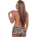 Women's Camo 2-Piece Bikini Bathing suit Halter Top & Hot Shorts Beach Swimwear - Thumbnail 2