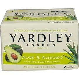 Yardley London 8.5-ounce Moisturizing Bars Fresh Aloe with Avocado Essence