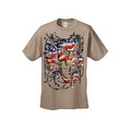 Men's T-Shirt USA Flag Skulls In Chains Stars & Stripes Pride American Graphic Tee - Thumbnail 10