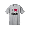 UNISEX T-SHIRT I Love My Crazy Husband FUNNY COUPLES VALENTINE'S DAY TOP S-4X 5X - Thumbnail 6