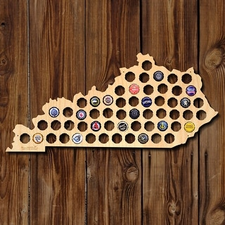 Kentucky Beer Cap Map