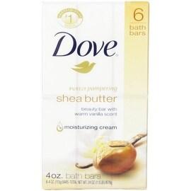 Dove Nourishing Care Shea Butter Beauty Bars, 4 oz bars, 6 ea