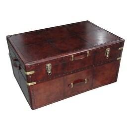 MDF Leather Storage Trunk Box