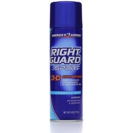Right Guard Sport 3-D Odor Defense, Antiperspirant & Deodorant Aerosol, Powder Dry 6 oz